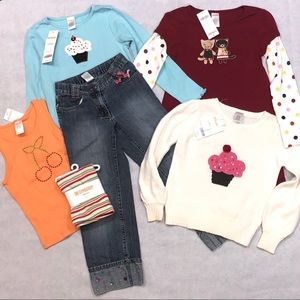 Gymboree Tops, Leggings, Jeans and Dress
